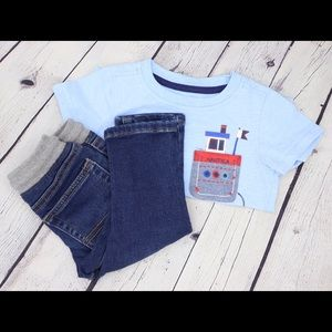 Jeans & T-shirt Outfit Size 12 Months